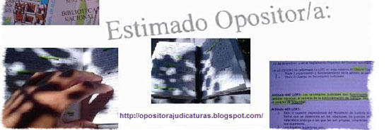 opositorablogjudicaturas - Blog personal de Nita, licenciada en derecho y estudiante de judicaturas.