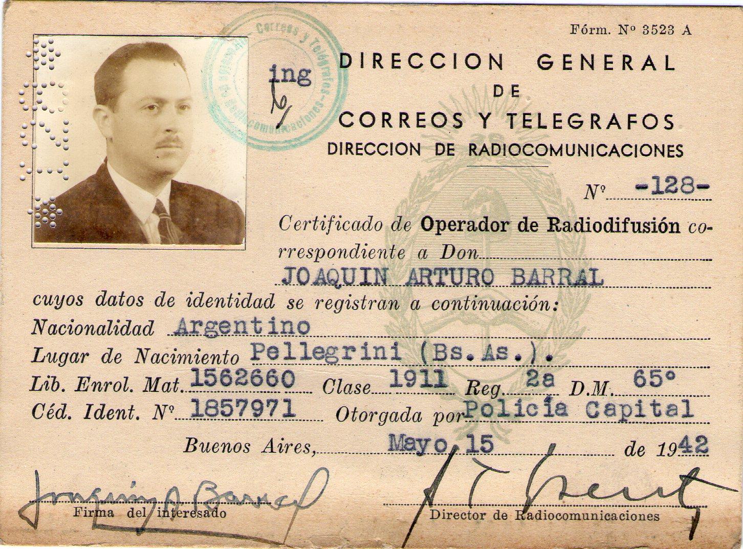 Joaquin Arturo Barral